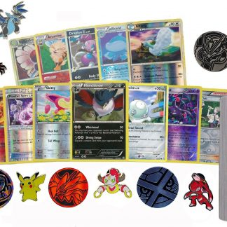 50 Assorted Pokemon Card Pack Lot This Comes With Foils, Rares, Random Pokemon Pin, and Pokemon Collectible Coin