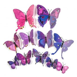 12pcs 3D Wall Sticker Butterfly Decoration Stickers Home Decor Room Onli