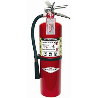 (Lot of 1) Amerex 10 Lb. Type ABC Dry Chemical Fire Extinguishers, with Certified Tag, Ready For Fire Inspections/Wall Mounts Included