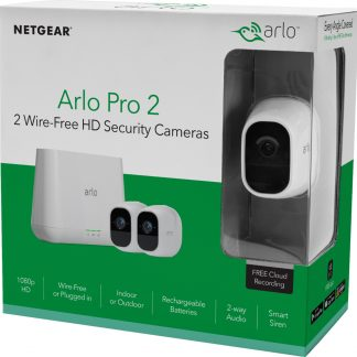 Arlo Pro 2 1080P HD Security Camera System VMS4230P - 2 Wire-Free Rechargeable Battery Cameras with Two-Way Audio, Indoor/Outdoor, Night Vision, Motion Detection, Activity Zones, 3-Second Look Back