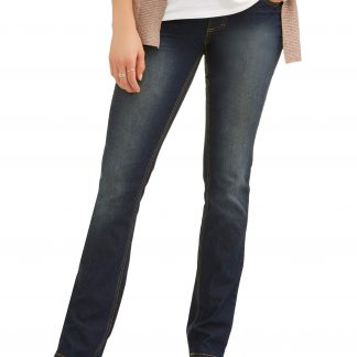 Maternity Oh! Mamma Straight Leg Jeans with Full Panel (Available in Plus Size)
